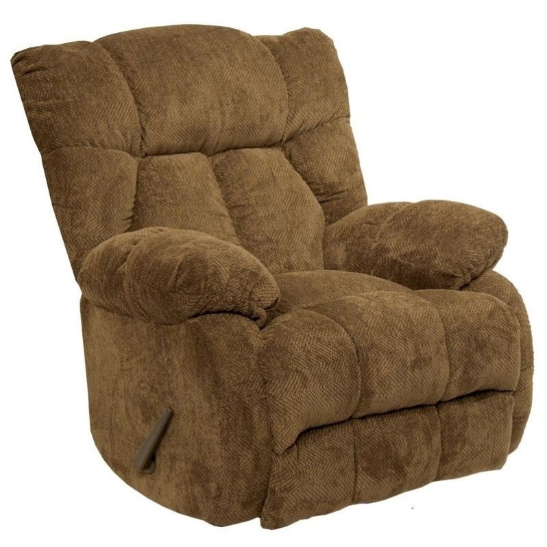 Catnapper Laredo Chaise Rocker Recliner Chair in Camel