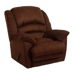 Catnapper Revolver Chaise Rocker Recliner Chair in Chocolate