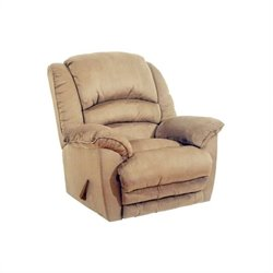 Catnapper Revolver Chaise Rocker Recliner Chair in Hazelnut