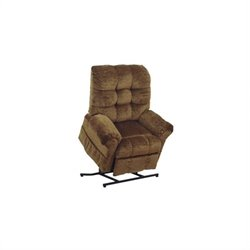 Catnapper Omni Power Lift Full Lay-Out Chaise Recliner Chair in Havana