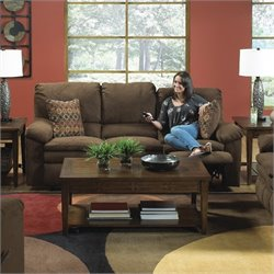 Catnapper Impulse Reclining Fabric Sofa in Godiva