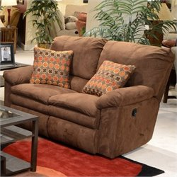 Catnapper Impulse Reclining Fabric Loveseat in Godiva