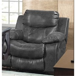 Catnapper Catalina Glider Recliner in Steel