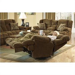 Catnapper Concord Lay Flat Recliner in Pecan