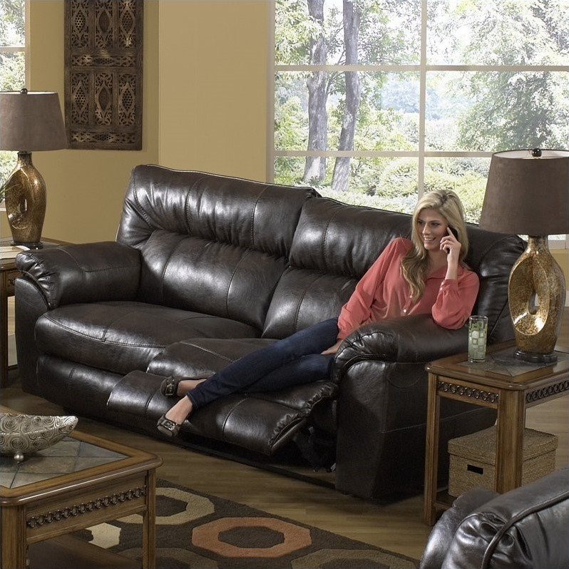 Catnapper Nolan Leather Power Reclining Sofa In Godiva