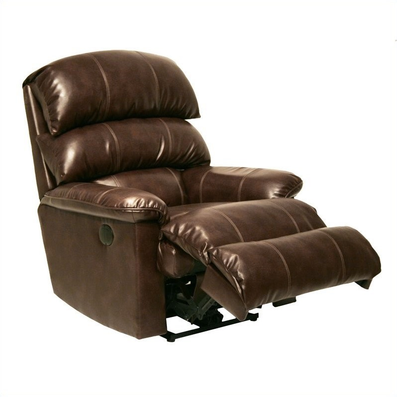 Catnapper Templeton Leather Wall Hugger Recliner In