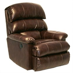 Catnapper Templeton Leather Wall Hugger Recliner in Espresso