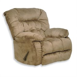 Catnapper Teddy Bear Oversized Rocker Recliner Chair in Saddle