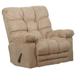 Catnapper Magnum Chaise Oversized Rocker Recliner Chair in Hazelnut