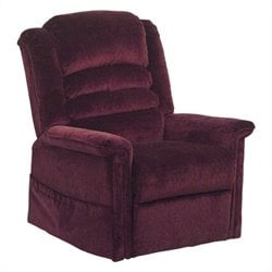 Catnapper Soother Power Lift Full Lay-Out Oversized Chaise Recliner in Vino