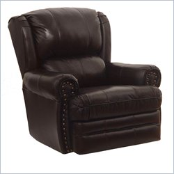 Catnapper Buckingham Oversized Rocker Recliner in Chocolate