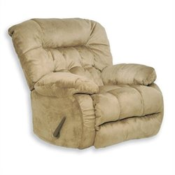 Catnapper Teddy Bear Oversized Chaise Swivel Recliner in Hazelnut