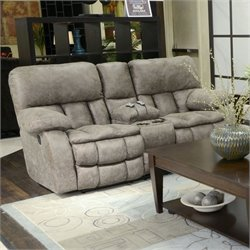 Catnapper Madden Fabric Reclining Massage Loveseat in Marble