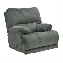 Catnapper Riley Fabric Power Reclining Rocker Recliner in Charcoal