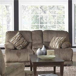 Catnapper Riley Fabric Power Reclining Loveseat in Musk