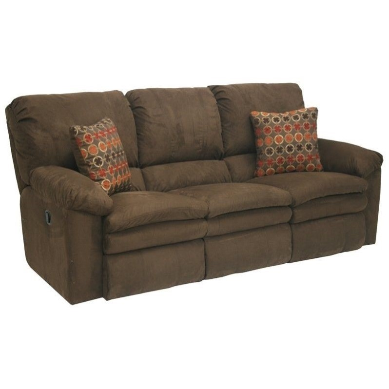 Catnapper impulse power reclining fabric sofa in godiva Fabric sofas and loveseats