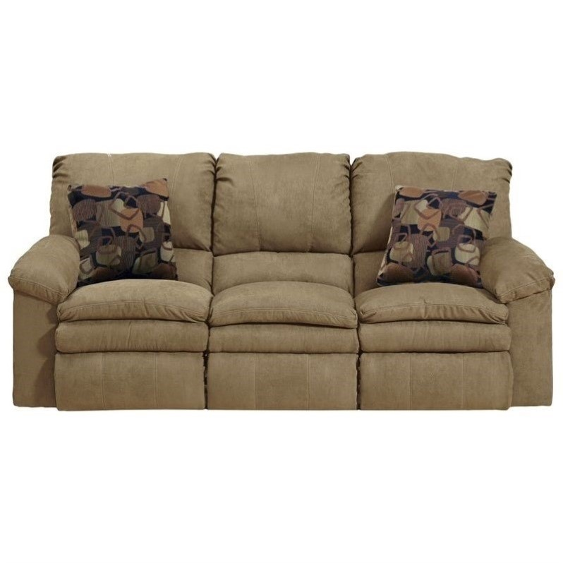 Catnapper impulse reclining fabric sofa in cafe Fabric sofas and loveseats