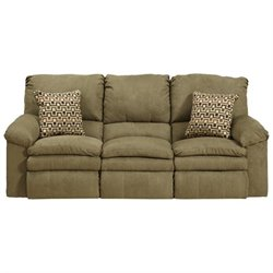 Catnapper Impulse Reclining Fabric Sofa in Moss
