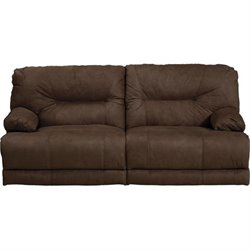 Catnapper Noble Lay Flat Reclining Fabric Sofa in Espresso