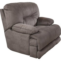 Catnapper Noble Lay Flat Fabric Recliner in Slate