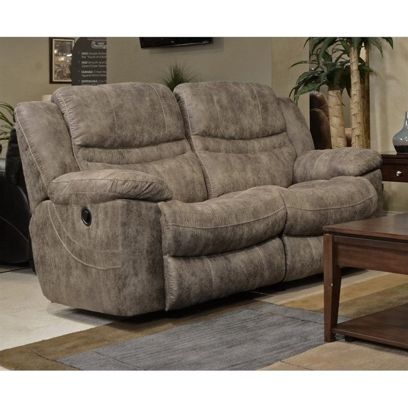 Catnapper Valiant Rocking Reclining Loveseat In Marble 14022124858280039