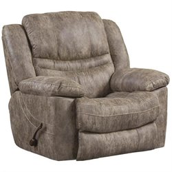 Catnapper Valiant Swivel Glider Recliner in Marble