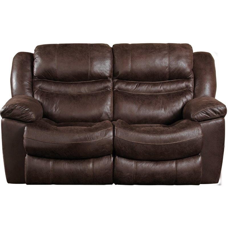 Catnapper Valiant Rocking Reclining Loveseat In Coffee 14022272419272519