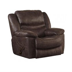 Catnapper Valiant Swivel Glider Recliner in Coffee