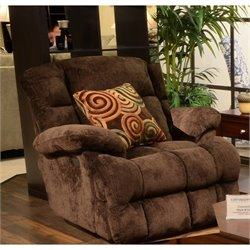Catnapper Concord Lay Flat Recliner in Mahogany