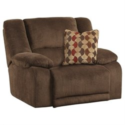 Catnapper Hammond Polyester Wall Hugger Recliner in Mocha
