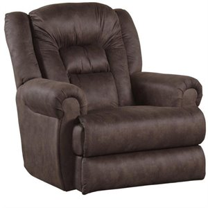 Atlas Wall Proximity Fabric Recliner in Sable