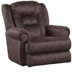 Catnapper Atlas Wall Proximity Fabric Recliner in Sable