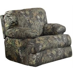 Catnapper Wintergreen Glider Cotton Recliner in Mossy Oak New Breakup