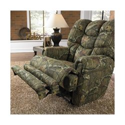 Catnapper Wintergreen Glider Cotton Recliner in Mossy Oak Infinity