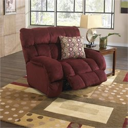Catnapper Siesta Lay Flat Fabric Recliner in Wine