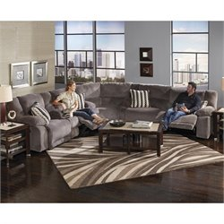 Catnapper Hammond Polyester Power Reclining Sectional in Granite