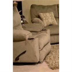 Catnapper Gavin Swivel Glider Recliner in Taupe
