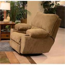 Catnapper Gavin Swivel Glider Recliner in Desert