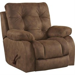 Catnapper Watson Lay Flat Recliner in Almond