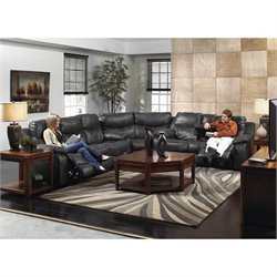 Catnapper Catalina 3 Piece Sectional in Steel