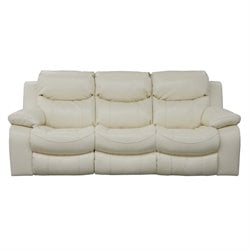 Catnapper Catalina Leather Reclining Sofa in Ice