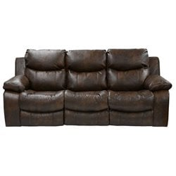 Catnapper Catalina Leather Reclining Sofa in Timber