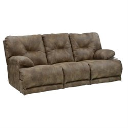 Catnapper Voyager Power Lay Flat Reclining Sofa in Brandy