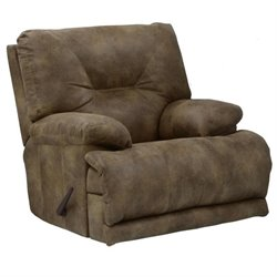 Catnapper Voyager Power Lay Flat Recliner in Brandy