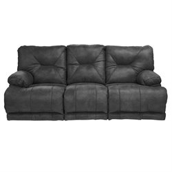 Catnapper Voyager Power Lay Flat Reclining Sofa in Slate