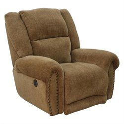 Catnapper Stafford Lay Flat Recliner in Caramel