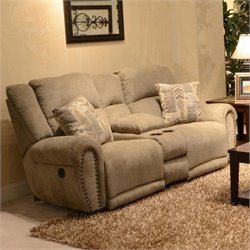 Catnapper Stafford Lay Flat Reclining Loveseat in Platinum
