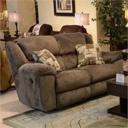 Catnapper Transformer Rocking Reclining Loveseat in Seal