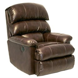Catnapper Templeton Leather Power Wall Hugger Recliner in Espresso