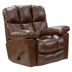 Catnapper Griffey Leather Rocker Recliner in Tobacco